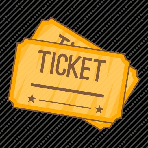 cartoon, cinema, entertainment, film, object, sign, ticket icon