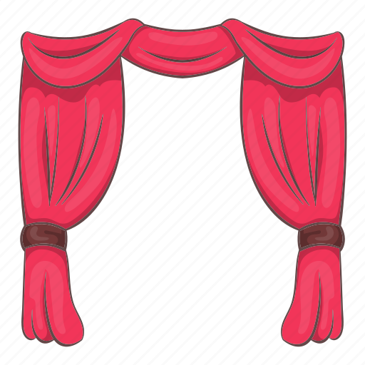 Cartoon, curtain, object, performance, show, sign, stage icon - Download on Iconfinder