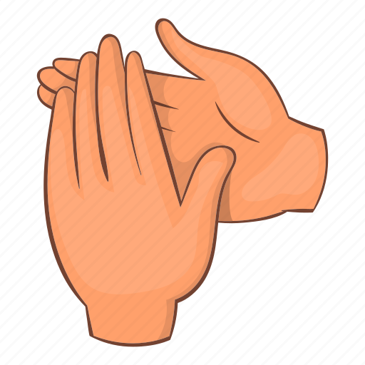 applause, cartoon, clap, finger, hand, object, sign icon