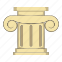 architecture, building, cartoon, column, object, roman, sign icon