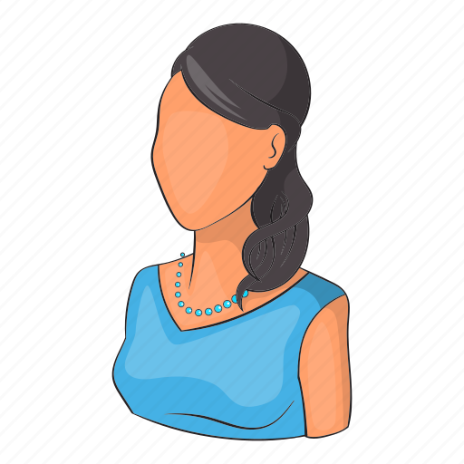 avatar, cartoon, girl, object, person, sign, woman icon