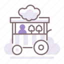 candy, cotton, stall icon