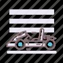 buggy, go, kart, racing icon