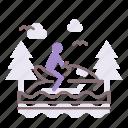 jet, motorboat, ski icon