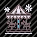 carousel, merry, merry go round, round icon