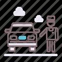 attendant, park, parking, valet icon