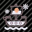 pirate, ship, skull