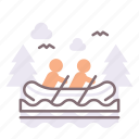 rapids, river, water icon