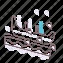 boat, ride, splash icon