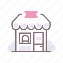 counter, reception, ticket icon