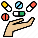 capsule, drug, medicine, pharmacy, pill, tablet, treat icon