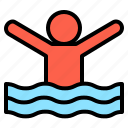 cure, fresh, hydro, physical, pressure, relax, water icon