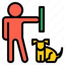 care, dog, fun, pet, play, social, training icon
