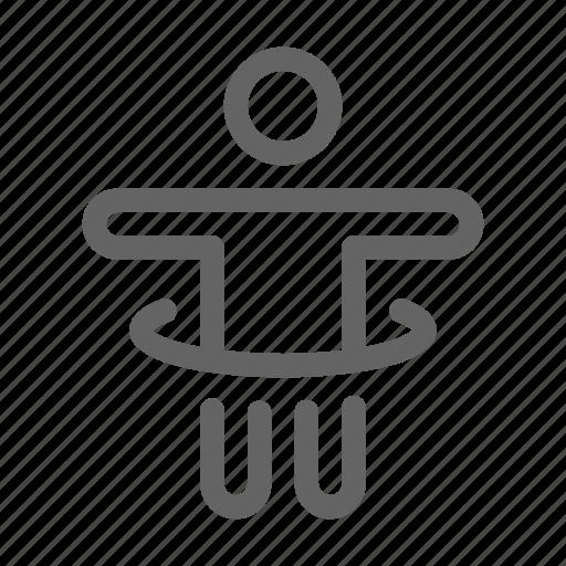 exercise, hoop, hula icon