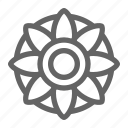 flower, mandala, therapy, yoga icon