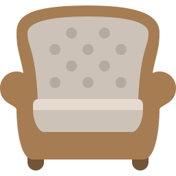 armchair, chair, household, swing icon
