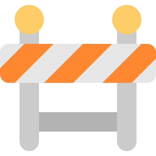 barricade, construction, man, traffic, under, worker, working icon