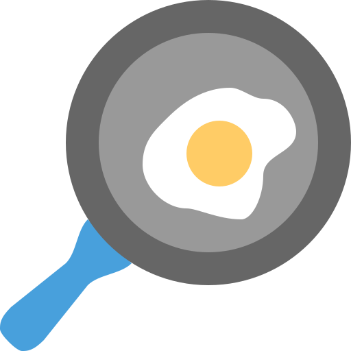 cook, cooking, egg, meet, pan icon