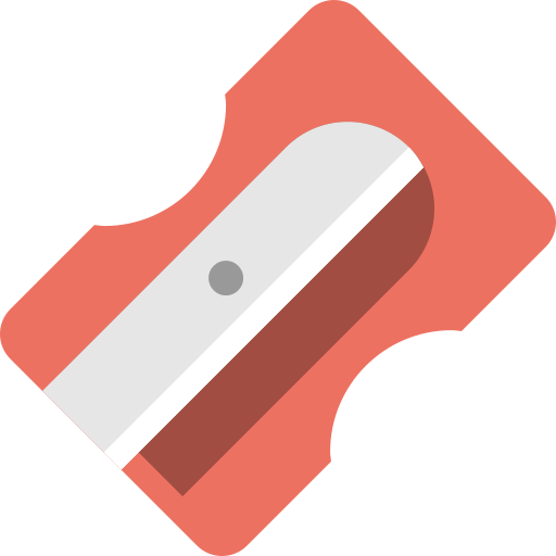 pencil, sharpner, tool icon