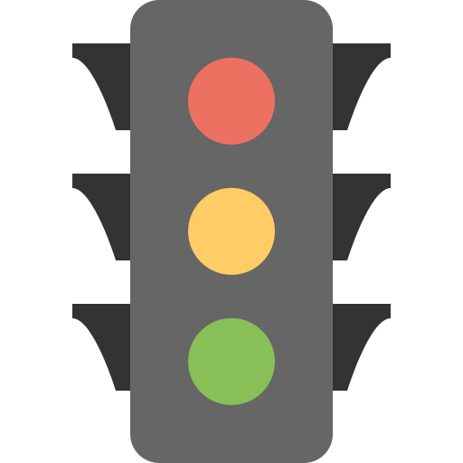 accident, car, green, light, red, traffic, yellow icon