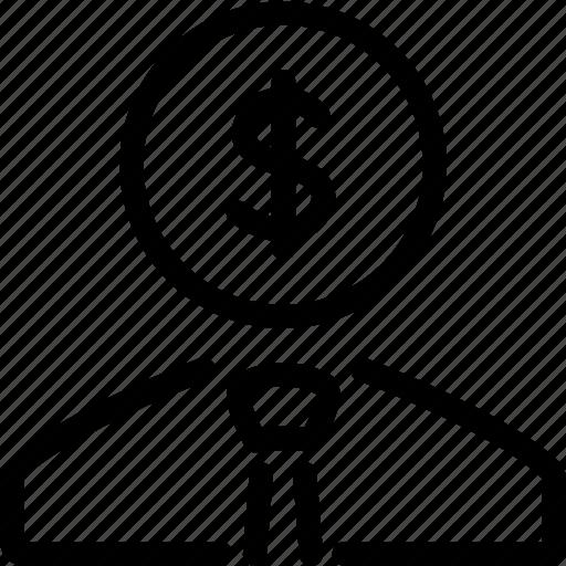 Businessman, money icon - Download on Iconfinder