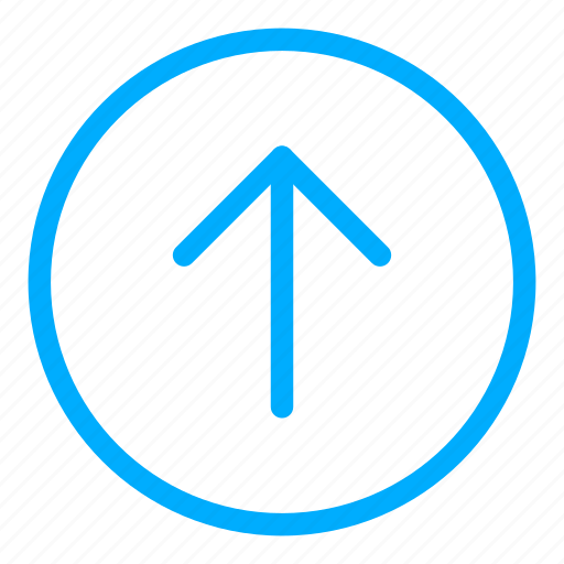 arrow, blue, direction, navigation, up icon