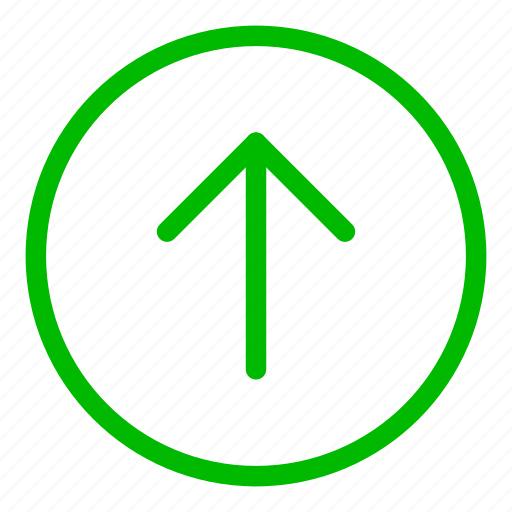 arrow, direction, green, navigation, up icon