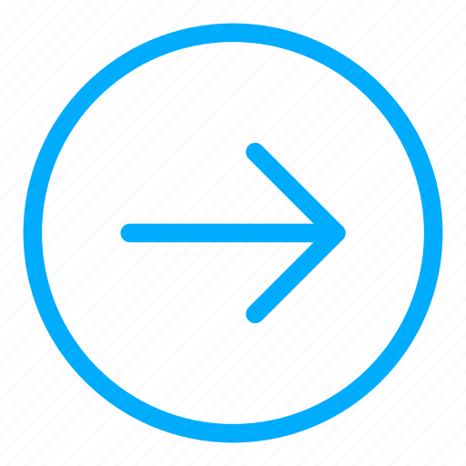 arrow, blue, direction, navigation, next, right icon