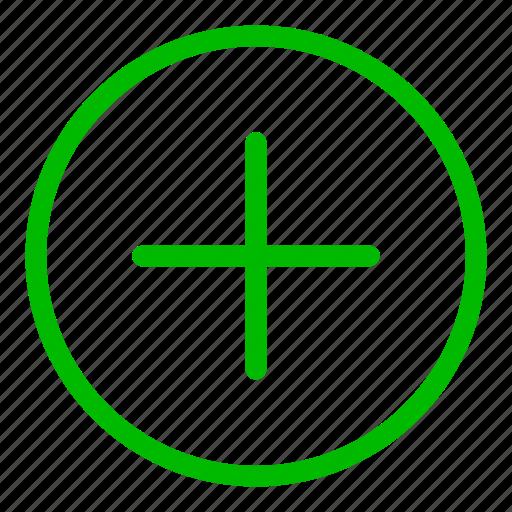 add, create, green, more, new, plus icon