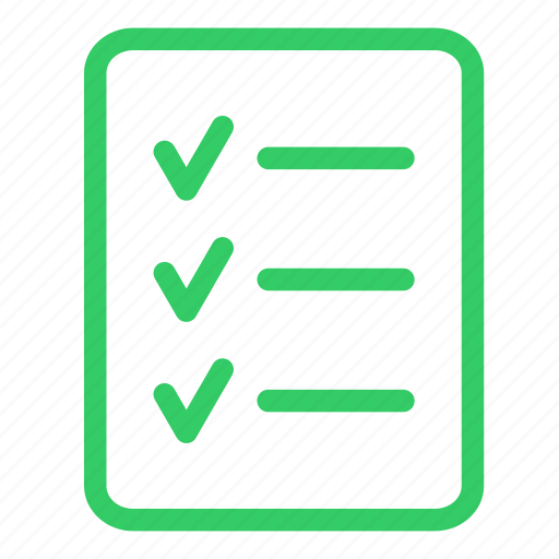 approved checklist clipboard green list report tasklist icon