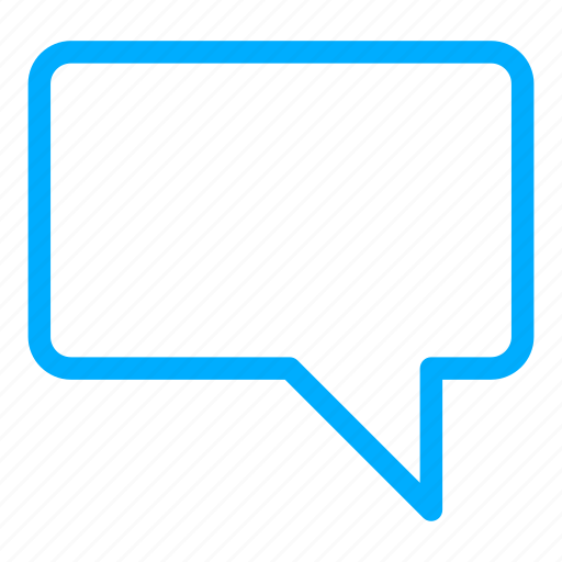 blue, bubble, chat, communication, conversation icon