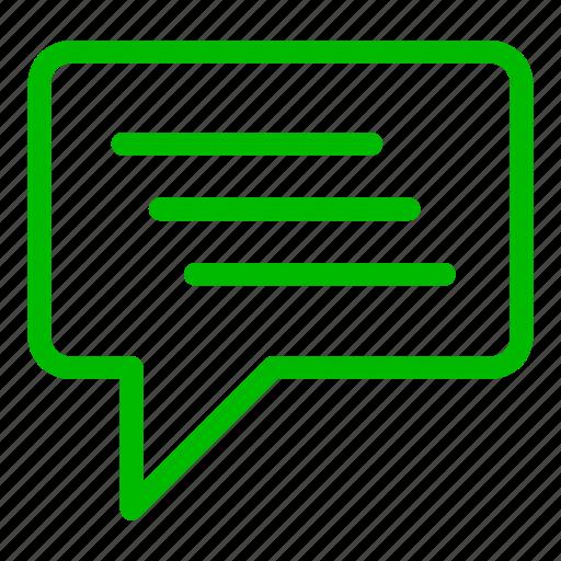 bubble, chat, communication, conversation, green icon