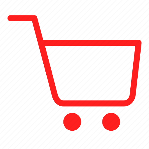 basket, buy, cart, ecommerce, red, sale, shopping icon