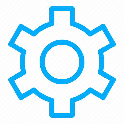 blue, configuration, control, gear, options, preferences icon