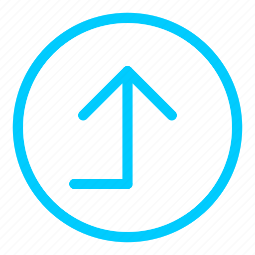 airport, back, blue, left, navigation, turn icon