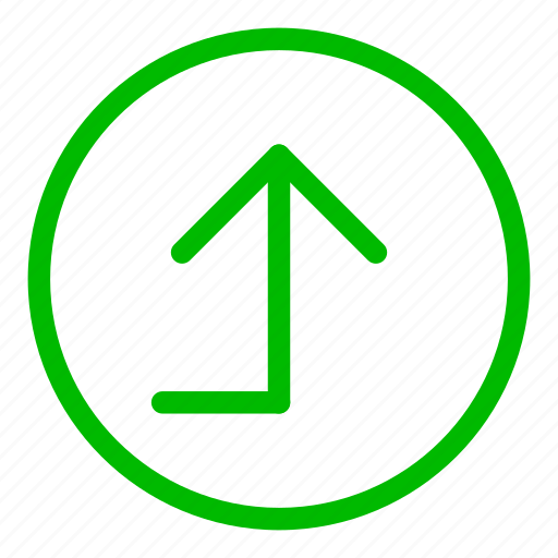 airport, back, green, left, navigation, turn icon