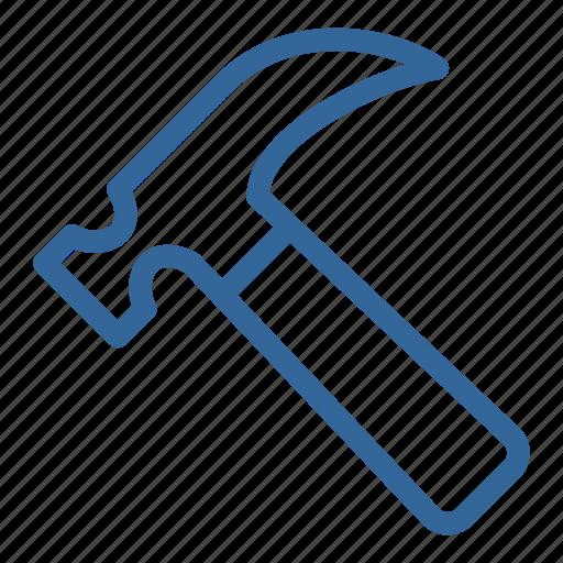 blue, building, construction, hammer, repair, tools icon