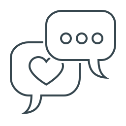bubble, chat, communication, engagement, message, social, social engagement icon