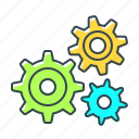 cogwheels, configuration, gear, seo, setting icon
