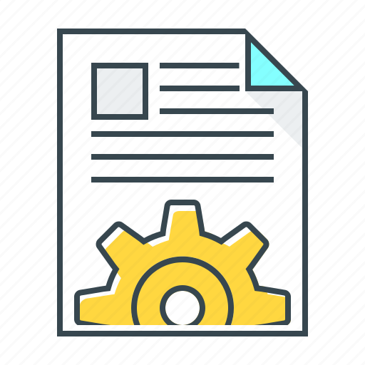 cogwheel, content, document, gear, management, webpage icon