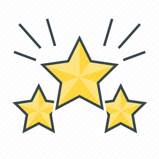 achievement, award, favorite, page quality, stars, winner icon