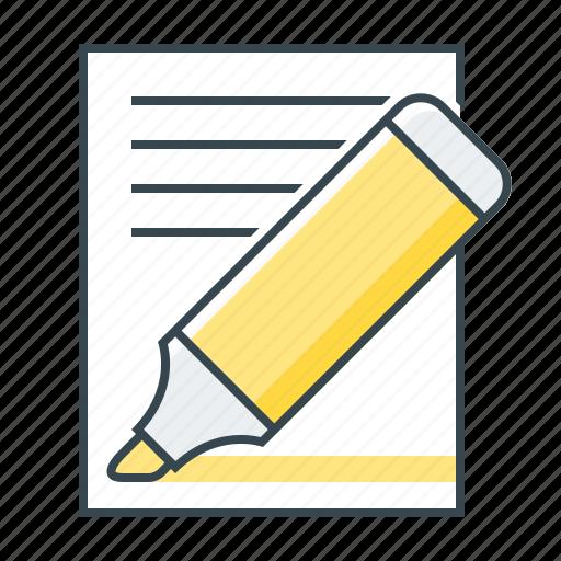 distinguish, felt-tip pen, highlight important, important note, web design, web site icon
