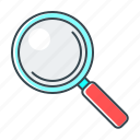 glass, magnifier, magnifying, search, seo, view, zoom icon