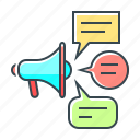 advertising, bullhorn, media, mouthpiece, social, social media, speaker icon