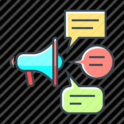 advertising, bullhorn, media, mouthpiece, social, social media, speaker icon