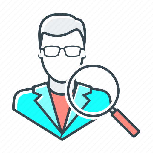 account, avatar, magnifier, search, usability, usability audit, user icon
