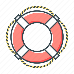 help, lifebuoy, sea, service, support, technical support icon