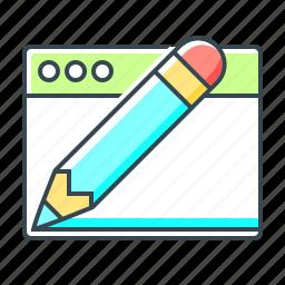 design, development, graphic, pencil, web, web design icon
