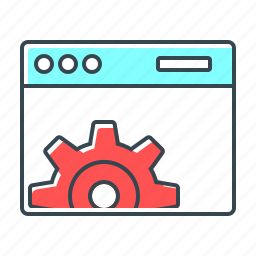 cogwheel, development, gear, optimization, seo, web, web optimization icon