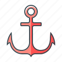 anchor, link, marine, ship, transport, url icon